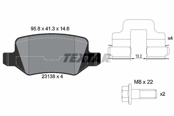 Bremsbeläge TEXTAR 2313803