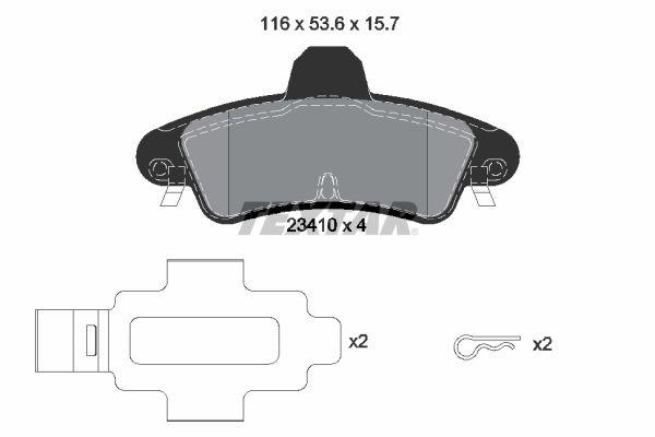 Bremsbelagsatz Scheibenbremse TEXTAR 2341007