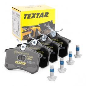 8216D1112 TEXTAR nicht für Verschleißwarnanzeiger vorbereitet, mit Bremssattelschrauben Höhe: 53mm, Breite: 87mm, Dicke/Stärke: 15,2mm Bremsbelagsatz, Scheibenbremse 2355401 günstig kaufen