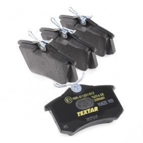 2355401 Bremsbelagsatz, Scheibenbremse TEXTAR 7335D340 - Große Auswahl - stark reduziert