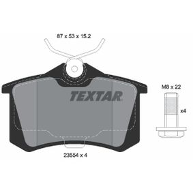 2355401 Bremsbelagsatz, Scheibenbremse TEXTAR - Markenprodukte billig