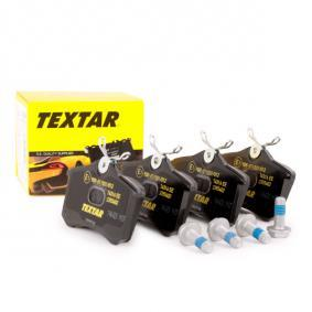 TEXTAR nicht für Verschleißwarnanzeiger vorbereitet, mit Bremssattelschrauben Höhe: 53mm, Breite: 87mm, Dicke/Stärke: 17,2mm Bremsbelagsatz, Scheibenbremse 2355402 günstig kaufen