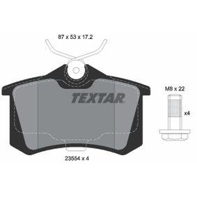 2355402 Bremsbelagsatz, Scheibenbremse TEXTAR - Große Auswahl - stark reduziert