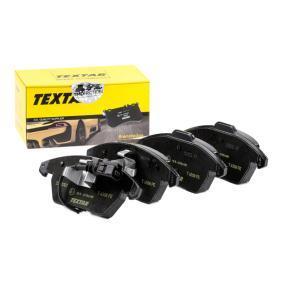 8760D1107 TEXTAR mit integriertem Verschleißsensor Höhe 1: 71,3mm, Höhe 2: 66mm, Breite 1: 156,5mm, Breite 2: 155,1mm, Dicke/Stärke: 20,3mm Bremsbelagsatz, Scheibenbremse 2358701 günstig kaufen