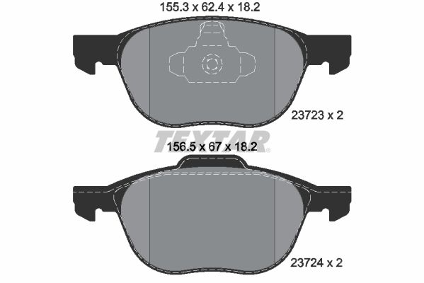 2372301 Bremsbelagsatz TEXTAR - Markenprodukte billig
