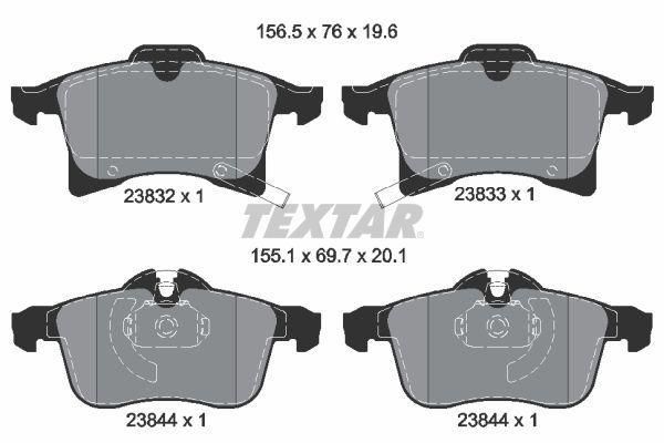 2383201 Bremsbelagsatz TEXTAR - Markenprodukte billig