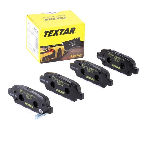 TEXTAR   Bremsbelagsatz, Scheibenbremse 2387101