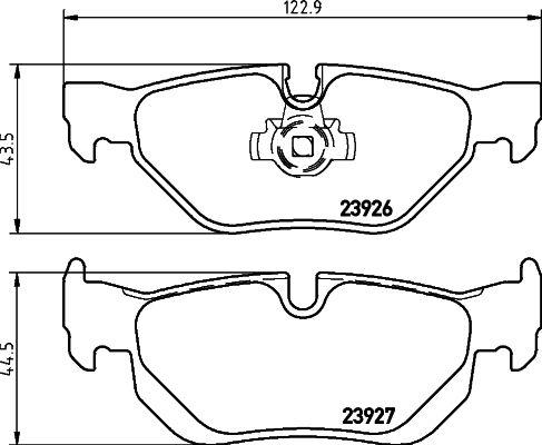 7286D1267 TEXTAR für Verschleißwarnanzeiger vorbereitet Höhe 1: 43,7mm, Höhe 2: 48,3mm, Breite 1: 123mm, Breite 2: 123mm, Dicke/Stärke: 17,3mm Bremsbelagsatz, Scheibenbremse 2392601 günstig kaufen