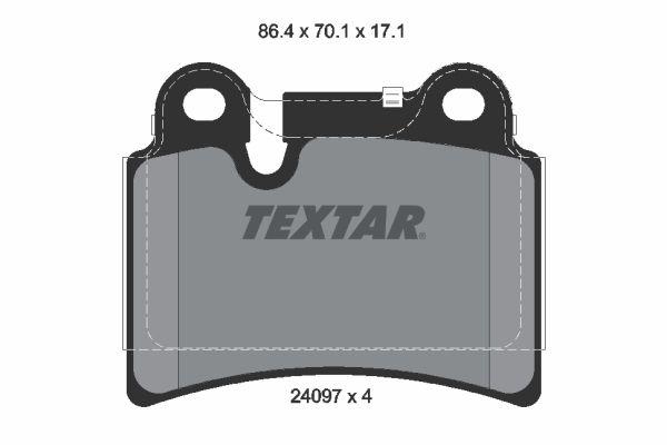 Bremsbelagsatz, Scheibenbremse TEXTAR 2409701 Bewertungen