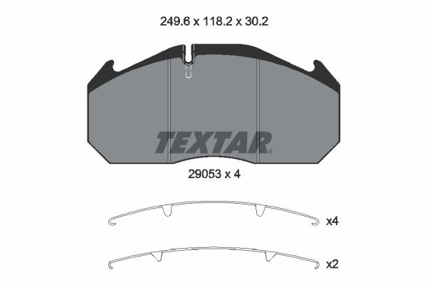 Bremsbelagsatz, Scheibenbremse TEXTAR 2905301 mit 19% Rabatt kaufen