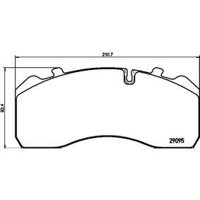 Bremsbelagsatz, Scheibenbremse TEXTAR 2909520 mit 17% Rabatt kaufen