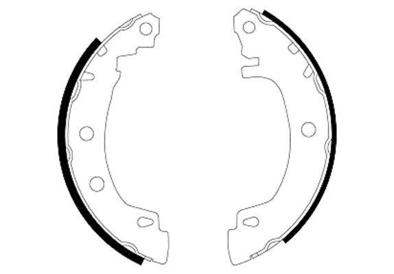 TEXTAR Bremsbackensatz 91049500