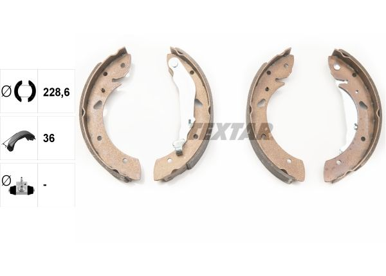 Textar 91053400 Bremsbackensatz für TOYOTA AVENSIS T22