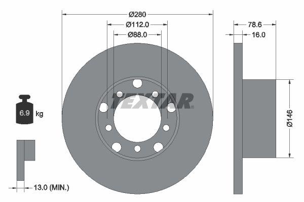 93012400 TEXTAR Bremsscheibe billiger online kaufen