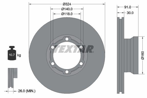 93087600 TEXTAR Bremsscheibe billiger online kaufen