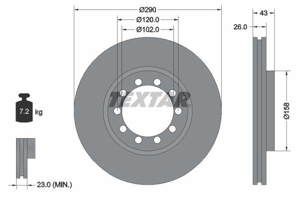 93117500 TEXTAR Bremsscheibe billiger online kaufen