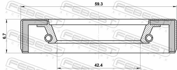 FEBEST | Wellendichtring, Schaltgetriebehauptwelle 95FBY-44590707R