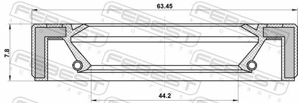 FEBEST | Wellendichtring, Schaltgetriebehauptwelle 95GAY-46630809R