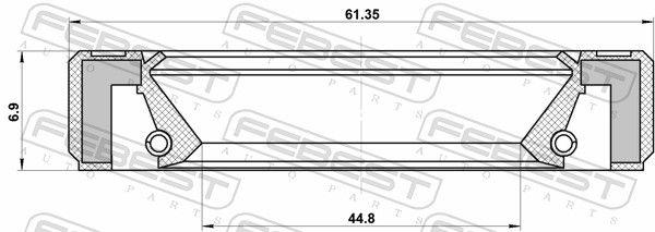 FEBEST | Wellendichtring, Schaltgetriebehauptwelle 95GBY-46610707R