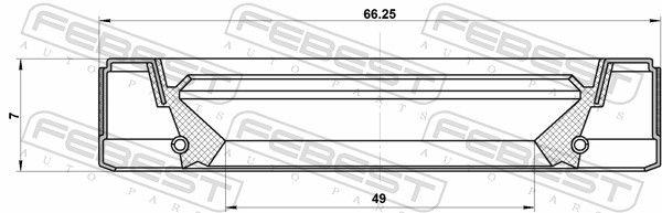 FEBEST   Wellendichtring, Schaltgetriebehauptwelle 95GEY-51660707R