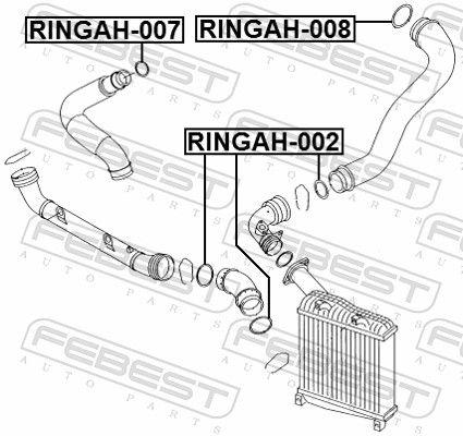 RINGAH-007 Dichtring, Ladeluftschlauch FEBEST - Markenprodukte billig