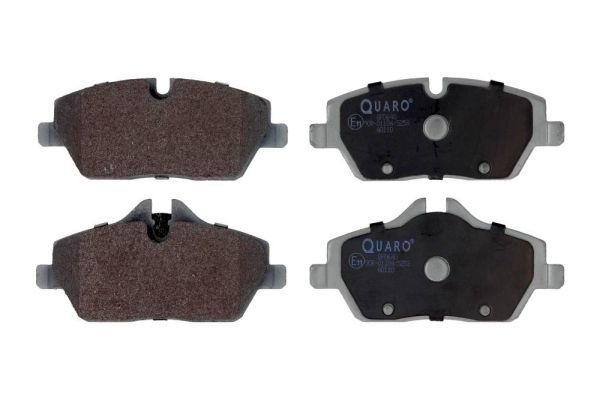 QP0640 QUARO für Verschleißwarnanzeiger vorbereitet Höhe 1: 53,2mm, Höhe 2: 65mm, Breite 1: 131,4mm, Breite 2: 131,4mm, Dicke/Stärke: 17,8mm Bremsbelagsatz, Scheibenbremse QP0640 günstig kaufen