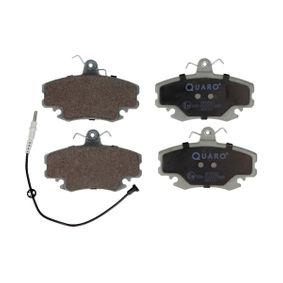 QP0910 QUARO inkl. Verschleißwarnkontakt, mit Bremssattelschrauben Höhe: 64,8mm, Breite: 100,1mm, Dicke/Stärke: 18,2mm Bremsbelagsatz, Scheibenbremse QP0910 günstig kaufen