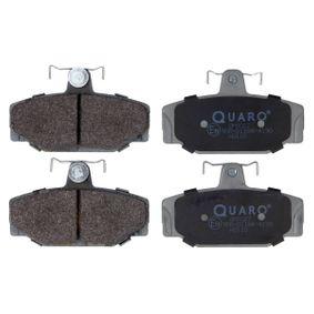 QP6027 QUARO exkl. Verschleißwarnkontakt, mit Bremssattelschrauben Höhe: 53,6mm, Breite: 90,1mm, Dicke/Stärke: 13,9mm Bremsbelagsatz, Scheibenbremse QP6027 günstig kaufen