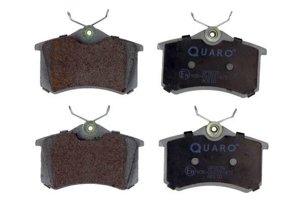 QP8078 QUARO nicht für Verschleißwarnanzeiger vorbereitet Höhe: 53mm, Breite: 87mm, Dicke/Stärke: 17,2mm Bremsbelagsatz, Scheibenbremse QP8078 günstig kaufen