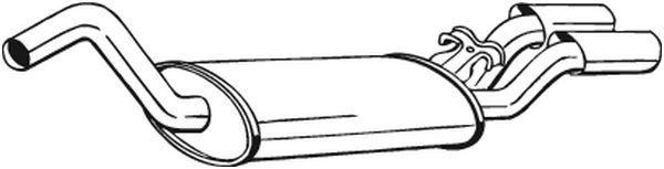 BOSAL: Original Nachschalldämpfer 105-127 ()