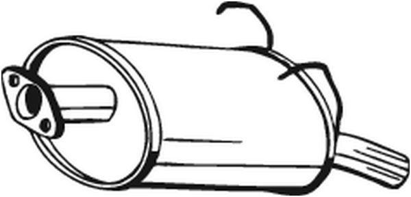 Original Nachschalldämpfer 163-197 Honda