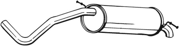 Buy original Exhaust muffler BOSAL 233-635