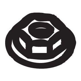258-036 BOSAL Mutter, Abgaskrümmer 258-036 günstig kaufen
