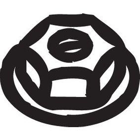 258038 Mutter, Abgaskrümmer BOSAL 258-038 - Große Auswahl - stark reduziert