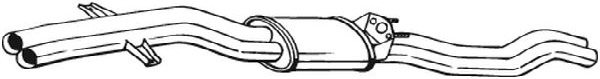 284-531 BOSAL Mittelschalldämpfer 284-531 günstig kaufen