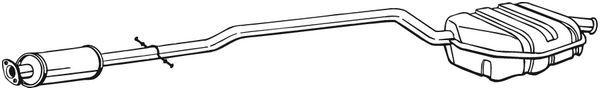 MINI Schrägheck 2020 Nachschalldämpfer - Original BOSAL 290-159