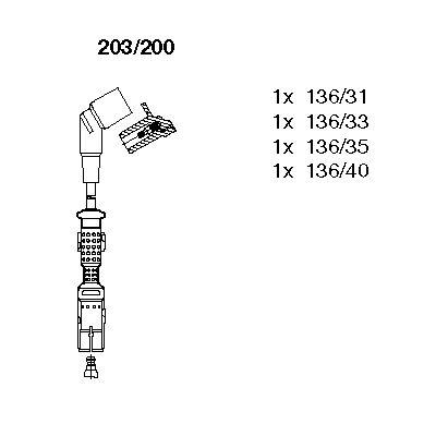 BREMI: Original Zündleitungssatz 203/200 ()