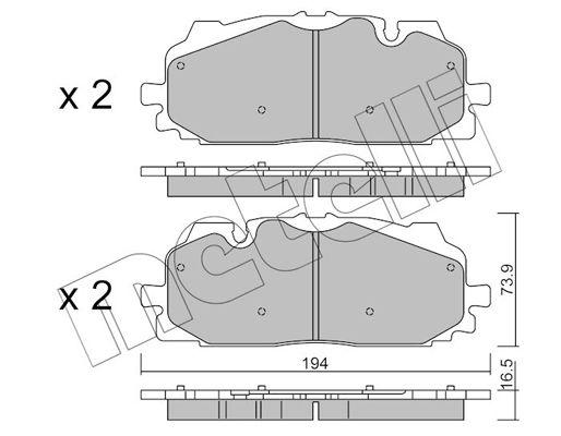Original VW Bremsbelagsatz 22-1128-0