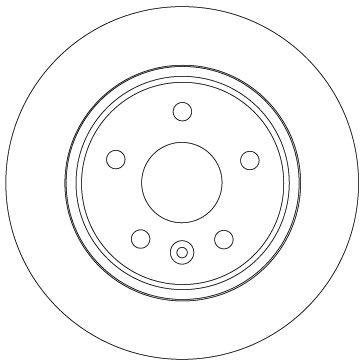 Bremsscheiben Opel Astra K B16 hinten und vorne 2016 - TRW DF6846 (Ø: 264mm, Lochanzahl: 5, Bremsscheibendicke: 10mm)