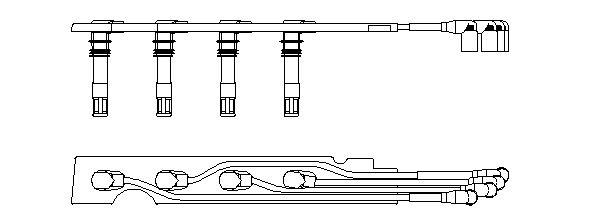 968G100 Zündleitungssatz BREMI in Original Qualität