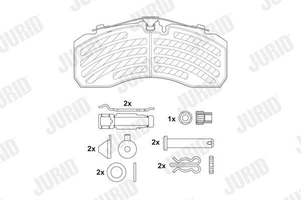 2925305390 JURID Bremsbelagsatz, Scheibenbremse für IVECO Tector jetzt kaufen