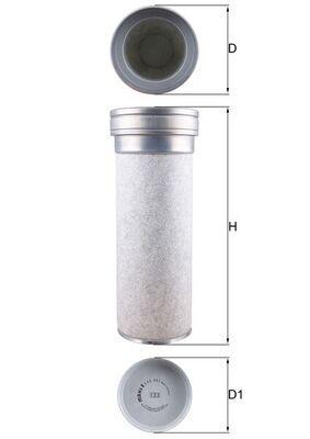 Sekundärluftfilter MAHLE ORIGINAL LXS 361 mit 15% Rabatt kaufen