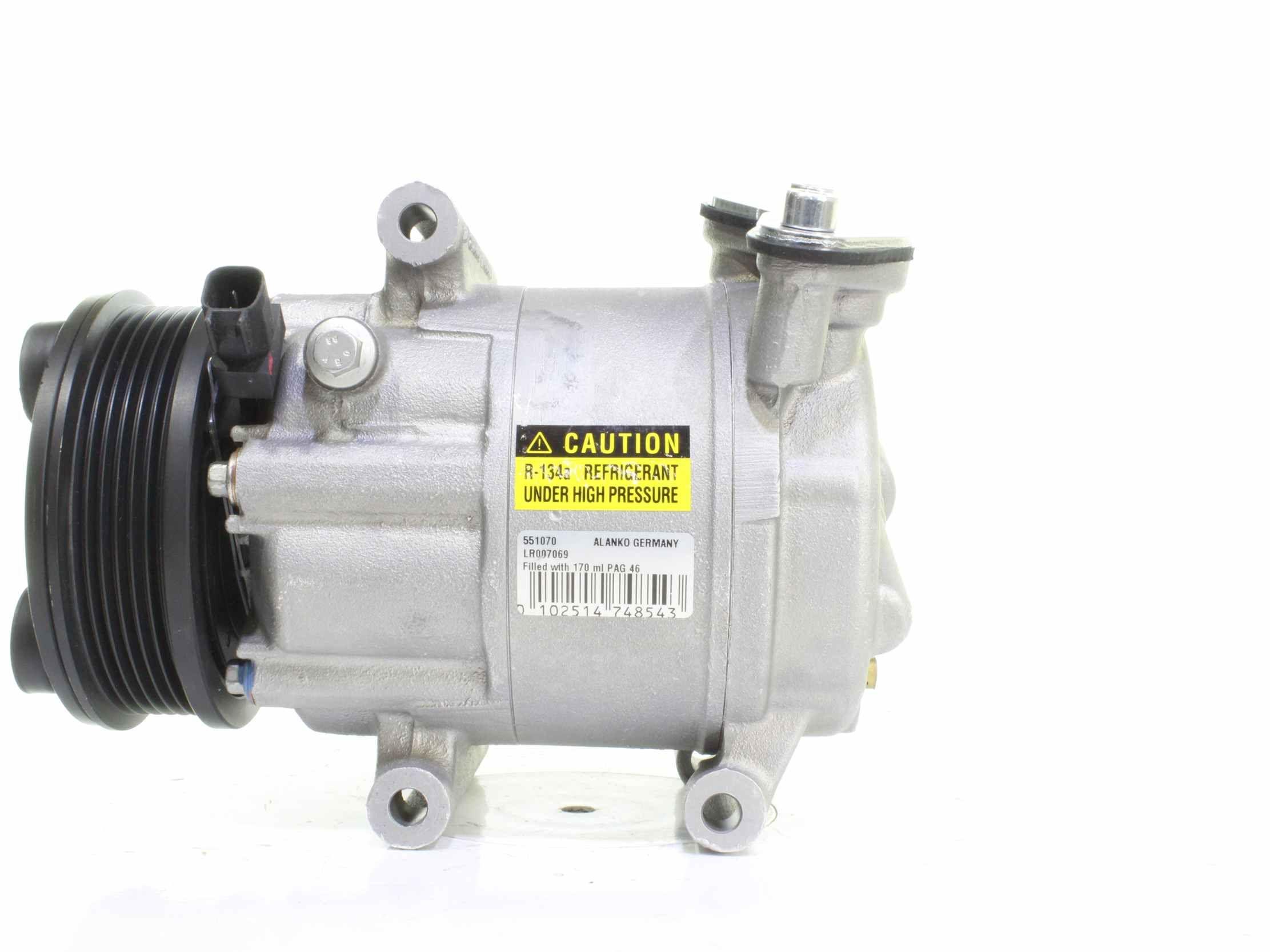 ALANKO: Original Kompressor Klimaanlage 10551070 (Riemenscheiben-Ø: 108mm)