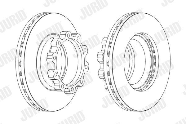 JURID Bremsscheibe für SCANIA - Artikelnummer: 567500J