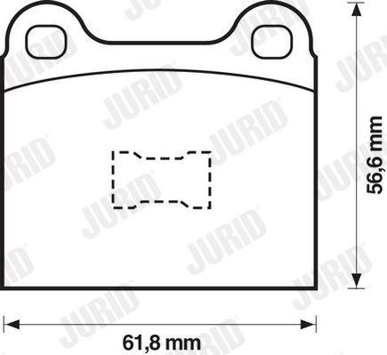 Bremsklötze VW Polo 86 hinten + vorne 1975 - JURID 571221D (Höhe 1: 57mm, Dicke/Stärke: 15,3mm)