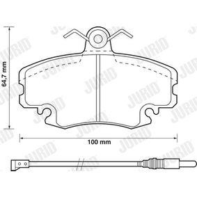 571526D Bremsbelagsatz, Scheibenbremse JURID 21463 - Große Auswahl - stark reduziert