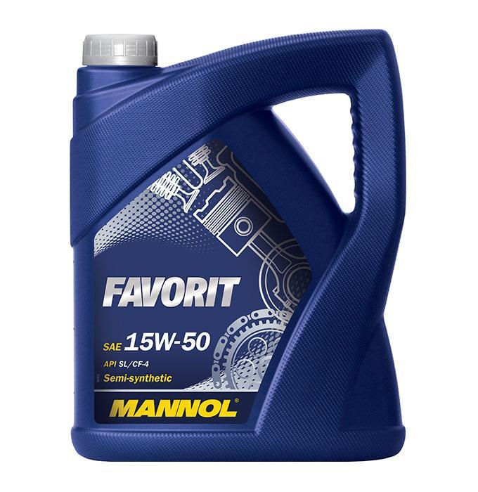Achat de MN7510-5 MANNOL FAVORIT 15W-50, 5I, Huile en partie synthétique Huile moteur MN7510-5 pas chères