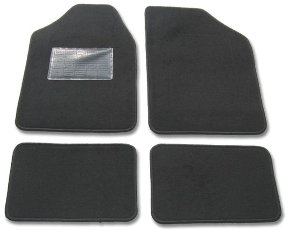 9900-1 POLGUM Universeel geschikt Textiel, voor en achter, Aantal: 4, Zwart Grootte: 31x47.5, 72.5x48.5 Vloermatset 9900-1