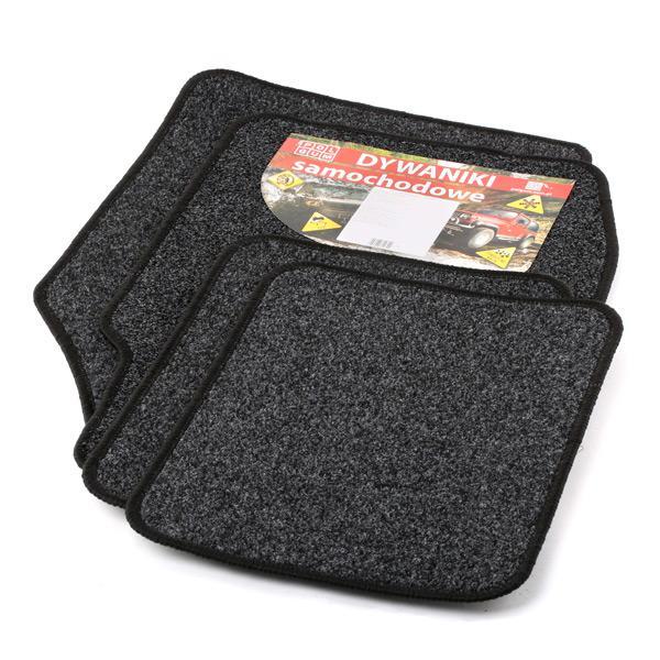 9900-3 POLGUM Universeel geschikt Textiel, voor en achter, Aantal: 4, Zwart Grootte: 31x47.5, 75x50 Vloermatset 9900-3