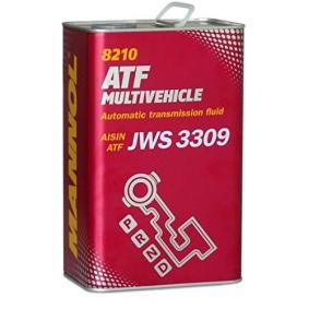 MN8210-4ME MANNOL ATF MULTIVEHICLE Capacity: 4l JASO M315 Type 1A, JATCO ATF, ALLISON C-4, AISIN WARNER JWS3309 Automatic Transmission Oil MN8210-4ME cheap